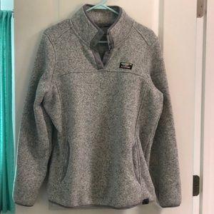 LL Bean Women's Sweater Fleece Pullover Size L